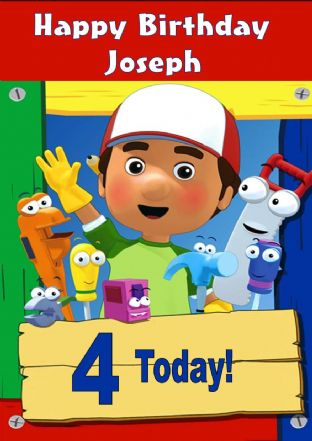 Personalised Handy Manny Birthday Card